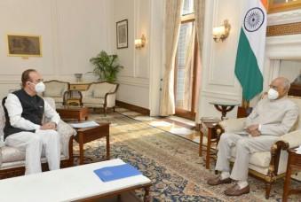 राष्ट्रपति कोविंद से मिले गुलाम नबी आजाद, कृषि विधेयक वापस भेजने की रखी मांग