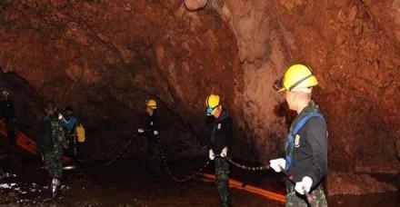 थाइलैंड में बाढ़ग्रस्त गुफा से निकाले गए चार और बच्चे