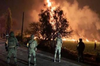 मेक्सिको में ईंधन पाइपलाइन में आग लगने से 21 लोगों की मौत, 71 घायल
