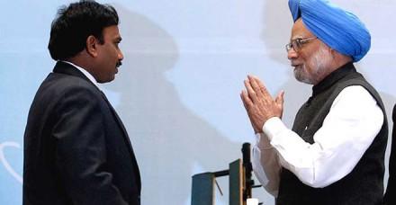 2-जी घोटाले के लिए डॉ. मनमोहन सिंह जिम्मेदार: ए. राजा