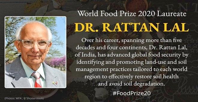 माटी के लाल! अमेरिका की ओहायो स्टेट यूनिवर्सिटी में प्रोफेसर भारत के मृदा वैज्ञानिक डॉ. रतन लाल को इस साल का प्रतिष्ठित विश्व खाद्य पुरस्कार मिला है। मिट्टी की सेहत पर डॉ. लाल के काम ने भुखमरी, जलवायु परिवर्तन और जल संकट से निपटने में मदद की है।