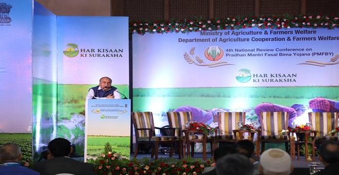 संजय अग्रवाल, सचिव, कृषि और किसान कल्याण मंत्रालय, भारत सरकार, प्रधानमंत्री फसल बीमा योजना के कार्यान्वयन की समीक्षा पर चतुर्थ राष्ट्रीय सम्मेलन को संबोधित करते हुए