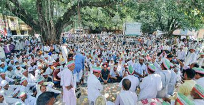 गन्ना के बकाया एवं ब्याज भुगतान की मांग को लेकर किसानों का बिजनौर में अनिश्चितकालीन धरना शुरू, अधिकारियों से वार्ता विफल रही जिसके बाद किसान रात में भी कलेक्ट्रट में जमे रहे
