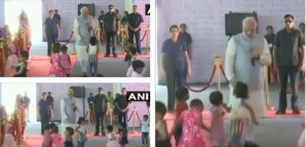 जब राजस्थान के झुंझुनू में छोटी बच्चियों के साथ खेलने लगे PM मोदी, देखें वीडियो