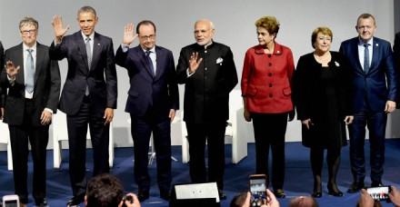 जलवायु सम्मेलन में प्रधानमंत्री नरेंद्र मोदी