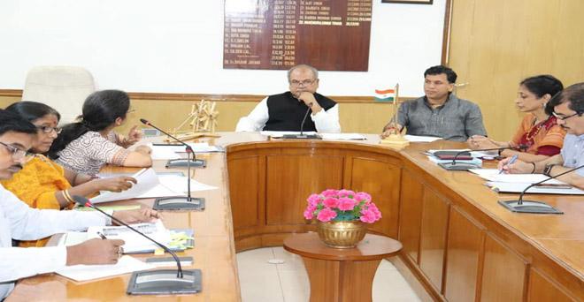 कृषि एवं किसान कल्याण मंत्रालय के अधिकारियों के साथ प्राकृतिक संसाधन एवं पोषकता प्रबंधन की बैठक में