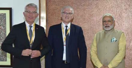 वाइब्रेंट गुजरातः मोदी ने वैश्विक नेताओं से की मुलाकात