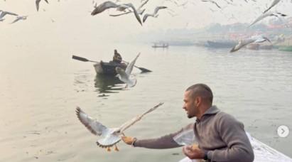 शिखर धवन का बनारस में चिड़िया को दाना खिलाना पड़ा महंगा, होगी इस पर कार्रवाई