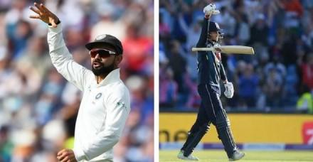 कोहली और इंग्लैंड के कप्तान के बीच 'माइक ड्रॉप' विवाद बना चर्चा का विषय